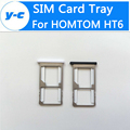 Homtom HT6 Sim Card Tray 100% Original sim Adapter Slots Holder Adapter For Homtom HT6 Mobile Phone in Stock