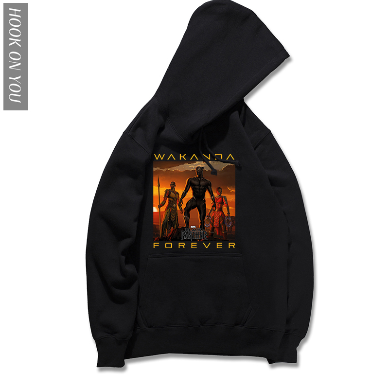 Black Panther Hoodie Wakanda Forever funny Hoody brand 2018 new Autumn casual plus size Hoodies Sweatshirts film Printed Cool