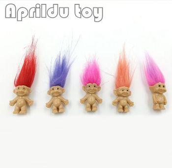 100 шт. волосы Тролль члены семьи папа мама для маленьких мальчиков девочек дамба аниме тролли детские игрушки для детей подарок на день рождения
