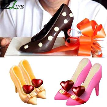 EZLIFE High Heel Shoes Polycarbonate PC Chocolate Candy Mould Bundle 3D Molding Instructions Fondant Cake Mold CHW2398