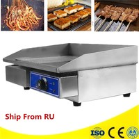 Commercial 220V Flat Electric Griddle Fried Steak Stainless Steel Fry Machine 3000W Hand Grasping Cake Machine