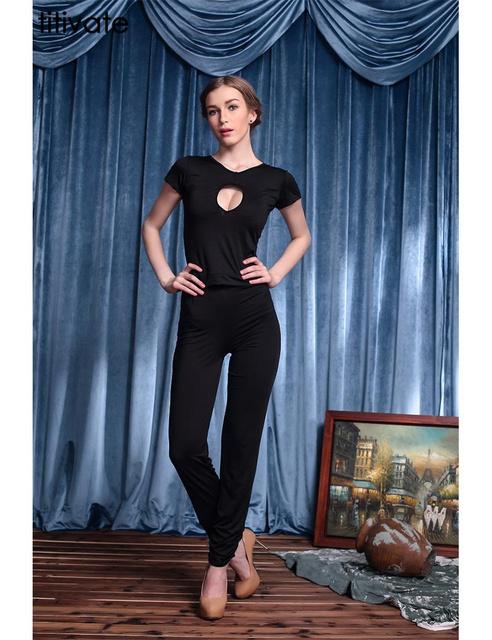 ENFEITAR Verão estilo Two-piece Slimming Bodycon Top curto e Calças Set 2 peça definir mulheres Conjunto Ocasional