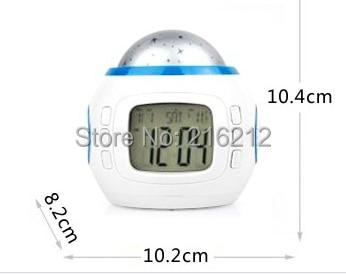 Fashion Hot Pretty Multi Function Colorful Light Calendar Thermometer Music Calendar Alarm Clock
