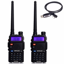 2 pcs Durable Talkie Walkie Retevis RT5R 5 W 128CH VHF UHF VOX DTMF Fréquence Radio Portable Ham Radio communicateur A7105