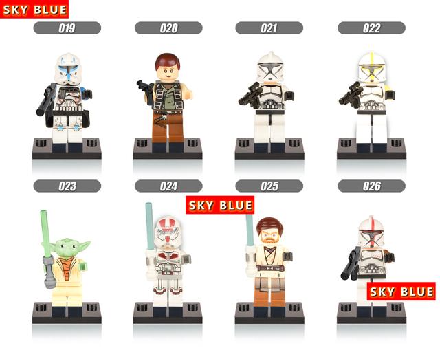 Star Wars Minifigures Darth Vader Yoda Obi Wan Han Solo Clones BB-8 R2-D2 BB8