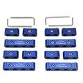 Ledaut 12 pc Corrida Azul Car Spark Plug Fio Separador Divisor Grampo kit para 8mm 9mm 10mm