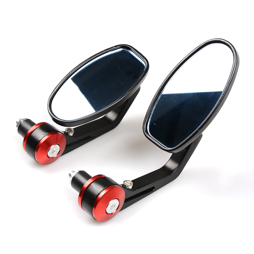NEW Motorcycle Scooters Racer Rearview Side View HANDLE BAR END Mirror FOR KTM bmw DUCATI Monster795 EVO Monster 696 TRIUMPH 675 in Side Mirrors Accessories from Automobiles Motorcycles