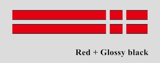 Автомобильный капот крышка двигателя виниловая наклейка авто задний багажник линии наклейки на капот Спорт полоса для Mini Coopers F54 F55 F56 R56 R57 R58 - Название цвета: Red-Glossy black