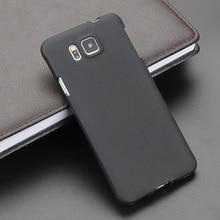 Dla Samsung Alpha czarny żel TPU szczupła miękka anty Skiding telefon silikonowy skrzynki tylna pokrywa dla Samsung Galaxy Alpha G850 G850F G8508S