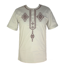Africa Clothes Men`s Dashiki Tops Bazin Embroidery African Dress Shirt for Summer Wearing