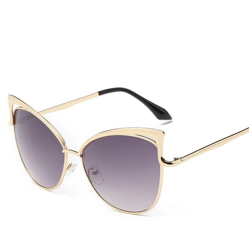 Metalowe różowe okulary Cat Eye Okulary przeciwsłoneczne damskie - Akcesoria odzieżowe - Zdjęcie 3