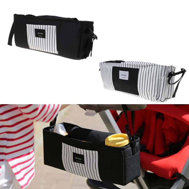 Baby Stroller Hanging Bag Carrier Nipple Diaper Bottle Storage Cart Organizer Portable Outdoor Newborn Supplies Multi Functional