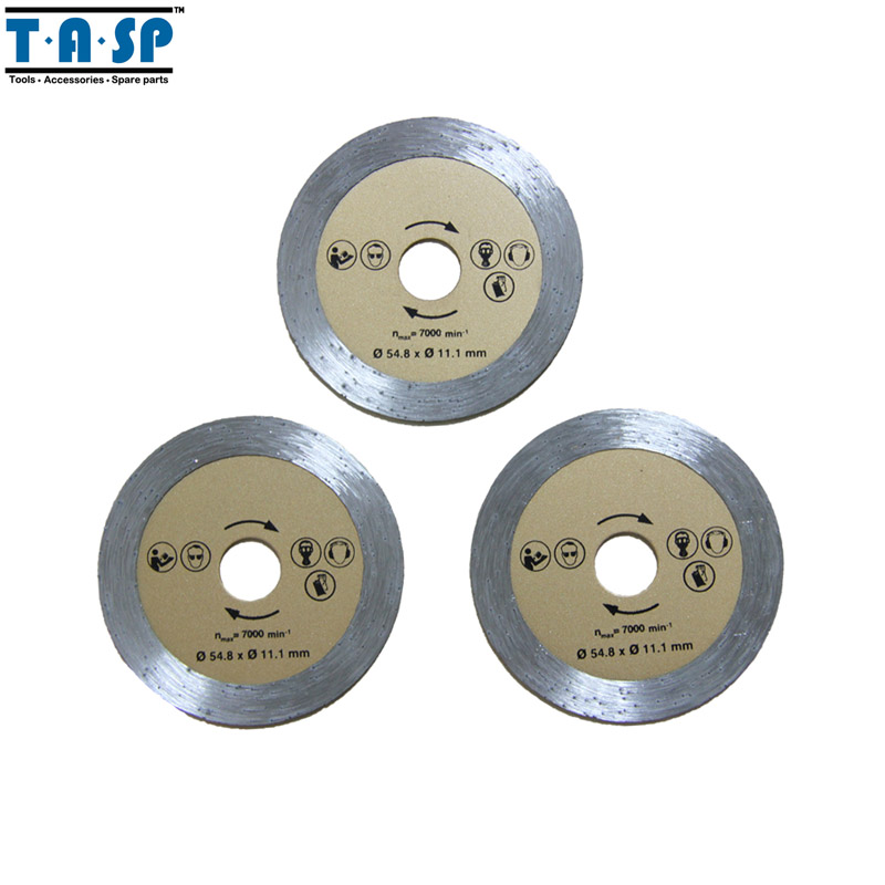 TASP Diamante Mini Lâmina de Serra Circular 54.8x11.1mm 3 PC para Alvenaria de Azulejos