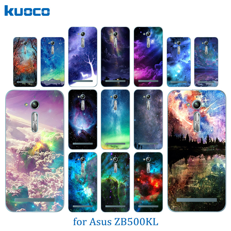 For Asus Zenfone Go ZB500KL Case Soft TPU Starry Sky Pattern For Asus Zenfone Go ZB500KG 5.0inch Silicon Cover Phone Bag