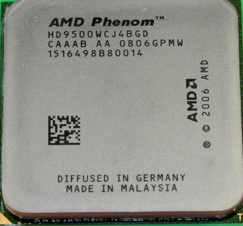 PROCESSORE AMD Phenom X4 9500 2.2 GHz Socket AM2 AM2+ Quad Core POTENTE!