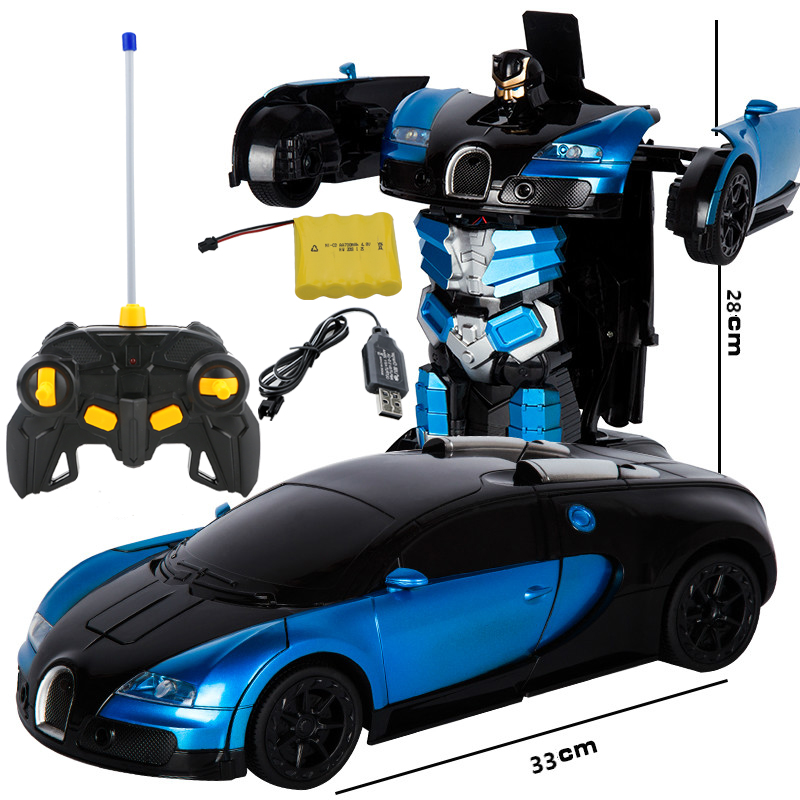 2019 1:12 RC Cars Cartoon Deformation Car Inertial Transformation Robots Toy For Children Baby Novelty Toys  Kid Gift