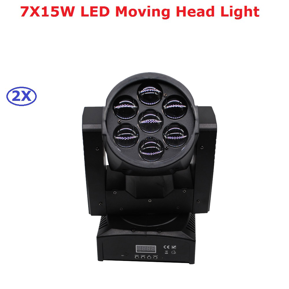Factory Price High Quality Zoom Led Mini Beam Wash Moving Head Light 7X15W RGBW Quad Professional DJ Disco DMX Stage Lights niugul dmx stage light mini 10w led spot moving head light led patterns lamp dj disco lighting 10w led gobo lights chandelier