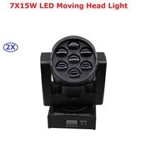 Factory Price High Quality Zoom Led Mini Beam Wash Moving Head Light 7X15W RGBW Quad Professional DJ Disco DMX Stage Lights