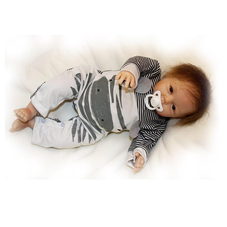 55 cm Silicone souple reborn bébé garçon poupée jouet lol réaliste mignon garçon nouveau-né bebe reborn bonecas mode anniversaire surprise cadeau - 2
