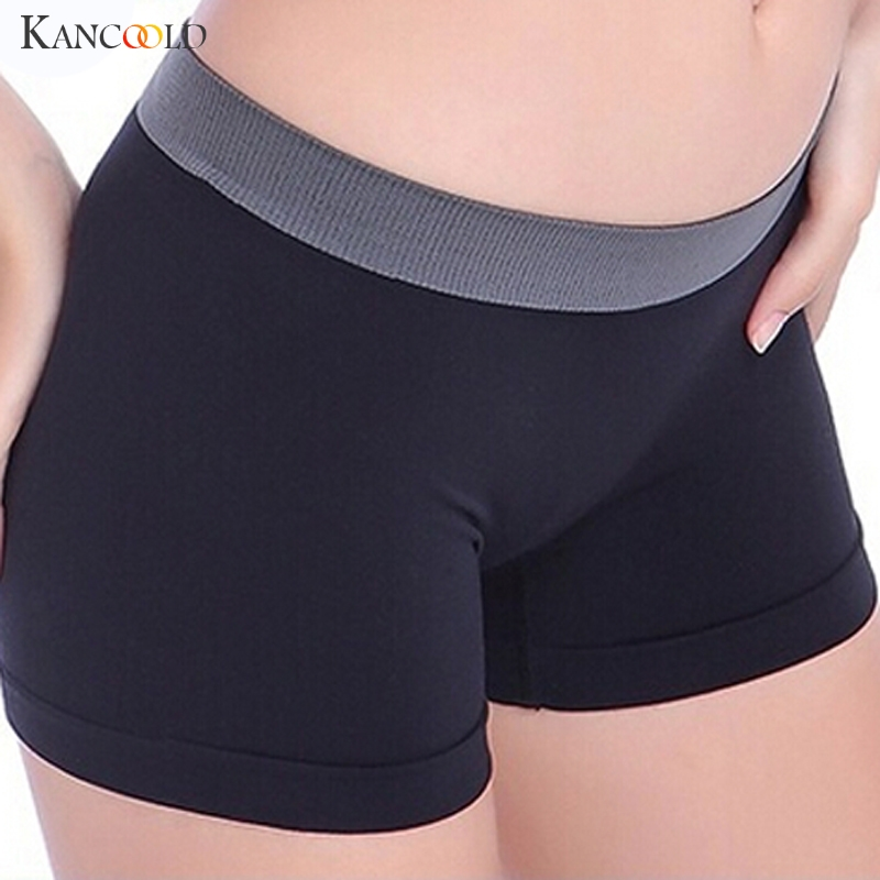 Women Boyshorts Contrast Color Patchwork Workout Lady High Waist Boxers Breathable Female   Panties   Hot Lift Hips Underwear Jan18