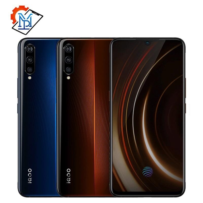 "Original Vivo iQOO Mobile Phone 6.41"" AMOLED 6G/8G/12G RAM 128G/256G Snapdragon 855 Octa Core Android 9 4000mAh NFC Smartphone"