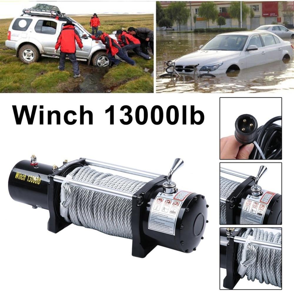 (Nave Da Usa-DE) 12 v Verricello Elettrico Filo di Corda Capacità Fino A £ 13000 Con Auto Telecomando Off-Road Motori di Sollevamento verricello