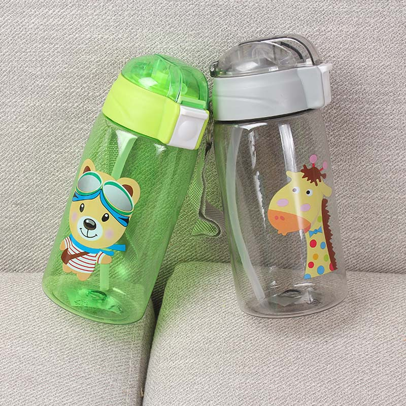 Kids Cup Drinking Water Learn Straw Cute Bottle Sippy Baby Training YW