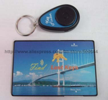 RF Wireless Key Finder with Keychain/Electronic Card & 2 DHL/UPS/EMS