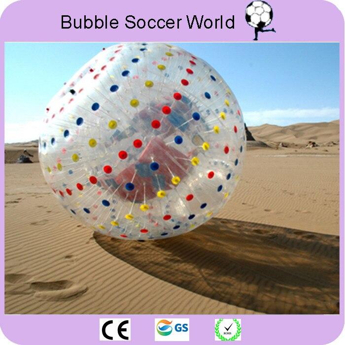 Balle roulante 2.5 M 0.8mm boule d'herbe gonflable boule de Hamster humain corps gonflable boule de Zorb pour l'exercice en plein air livraison gratuite