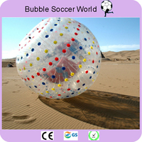 Rolling Ball 2.5M 0.8mm Inflatable Grass Ball Human Hamster Ball Inflatable Body Zorb Ball for outdoor exercise Free Shipping