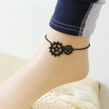 HOT Brand 1PC New Fashion Womens Punk Jewelry Gothic Fresh Sweet Anklet Black