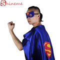 Moda adulto capa 1 capa + 1 máscara trajes superhero capes batman spiderman superman cosplay acessórios do traje para a festa