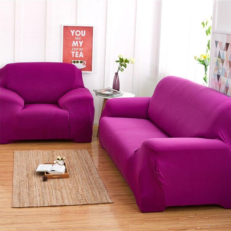 Europe Sofa Cover Purple,Brown,Beige,White Anti mite sofa slipcover ...