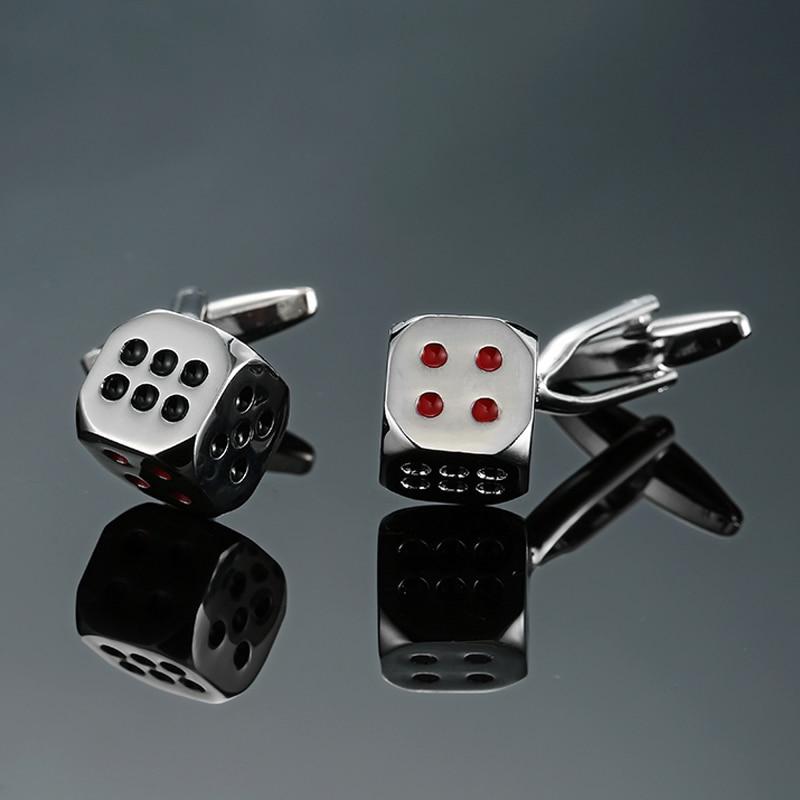 DY новый высокое качество латунь серебра, кости игроки Развлечения запонки ключ Для мужчин Французский рубашка запонки Бесплатная доставка