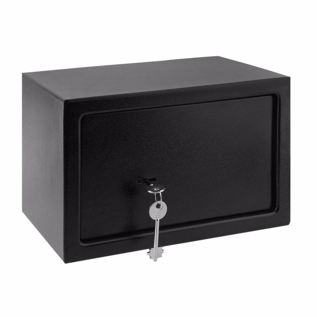 8.5L Secure safety box Office Home Cash Money Box Anti-thief Security Single Door Safe secret Deposit Box With 7 Lever Lock