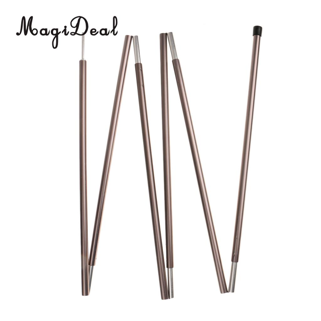 Aluminium High Quality 1Pc Alloy Awning Support Rod Camping Canopy Lightweight Tent Pole 6 Section Outdoor Hiking Tent Accessory high quality 3 section straight grip aluminium alloy hiking walking stick