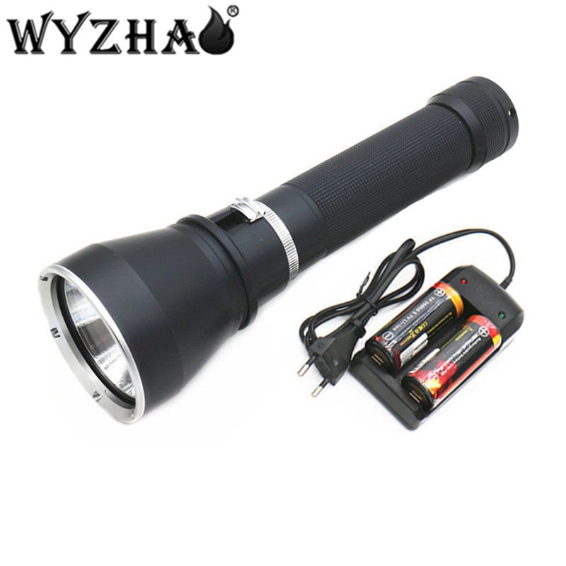 Diving light XHP50 LED Diving flashlight 8800 lumens Waterproof lamp submersible lamp underwater Swimming Torch Diving lights f 0 50m professional diving light 5000 lumens high power diving flashlight 3 led flashlight waterproof diving torch