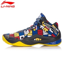 Li-Ning Men Professional Basketball Shoes Wade Series Team 4 Competition Basketball Cushioning Breathable Sports Sneakers