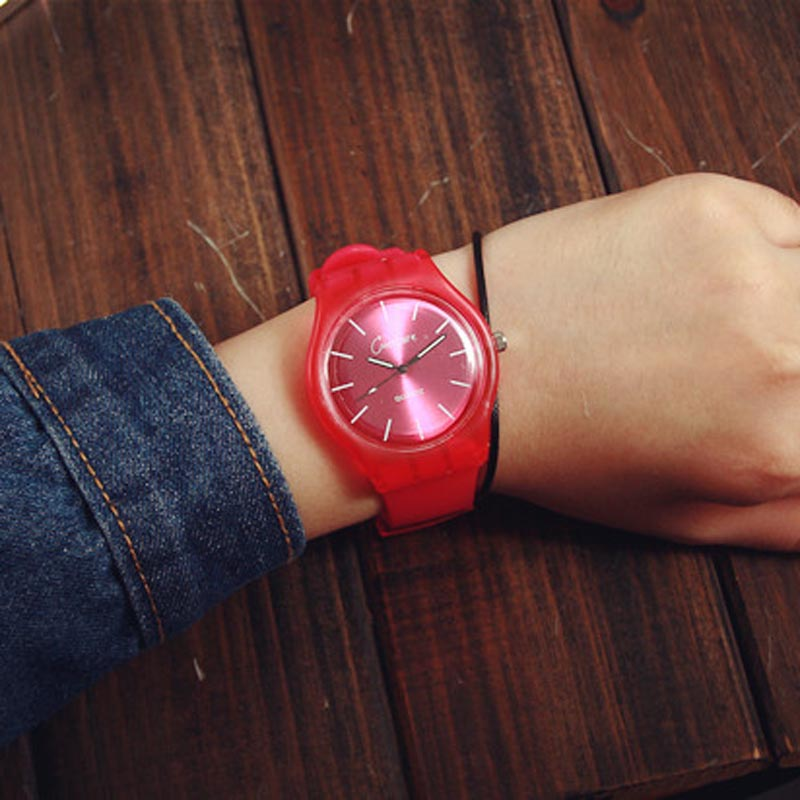 Fashion Women\'s Watches Candy Color Silicone Strap Wristwatch Student Quartz Wrist Watch Clock Gifts For Girls Ladies VL