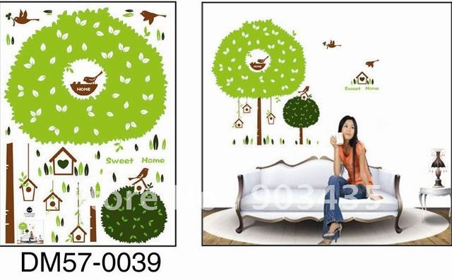 Fashion Art Decal Tree Wall Paste Sticker Wallpapers Home Decoration