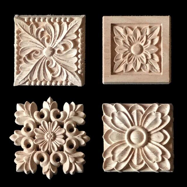 2017 Wood Carving Applique 5 pcs Cabinet Door Furniture Decorative ...