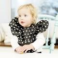 Baberos de bebé Otoño Invierno Bufanda Cabrito Chica Niños Recién Nacidos Baberos Impermeables Babero de Algodón Impermeable Babero Bebé Toalla Dot Oro