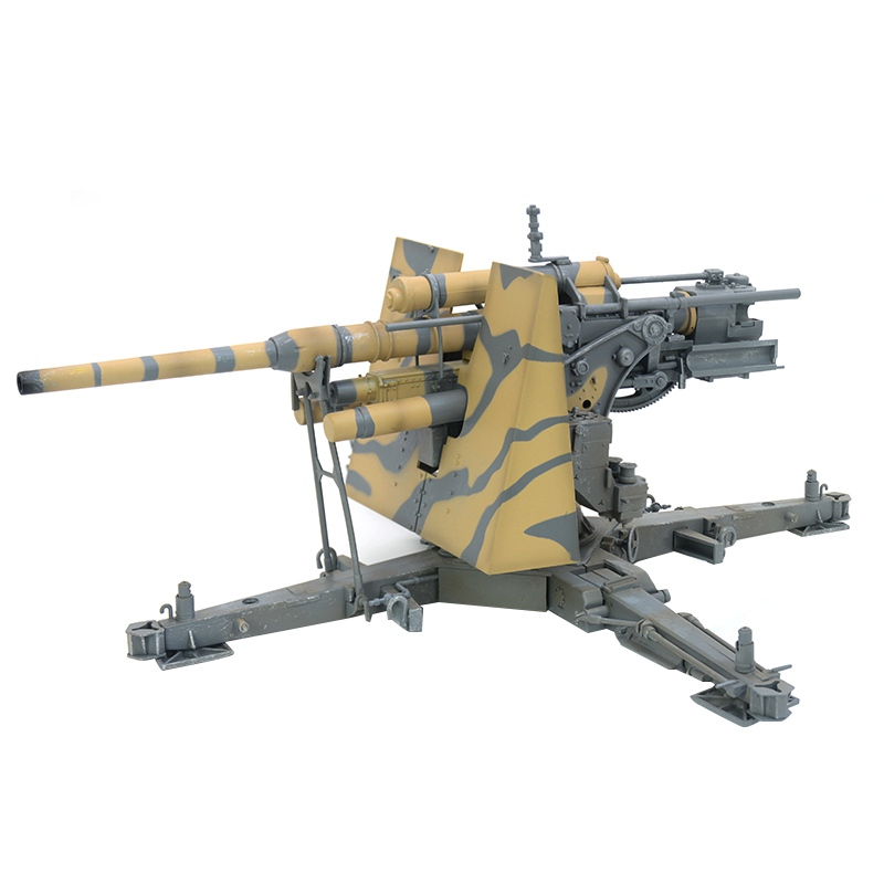 1:18 échelle pré-construite 88mm Flak 36 WWII allemand anti-avion anti-char artillerie pistolet passe-temps de collection modèle en plastique fini
