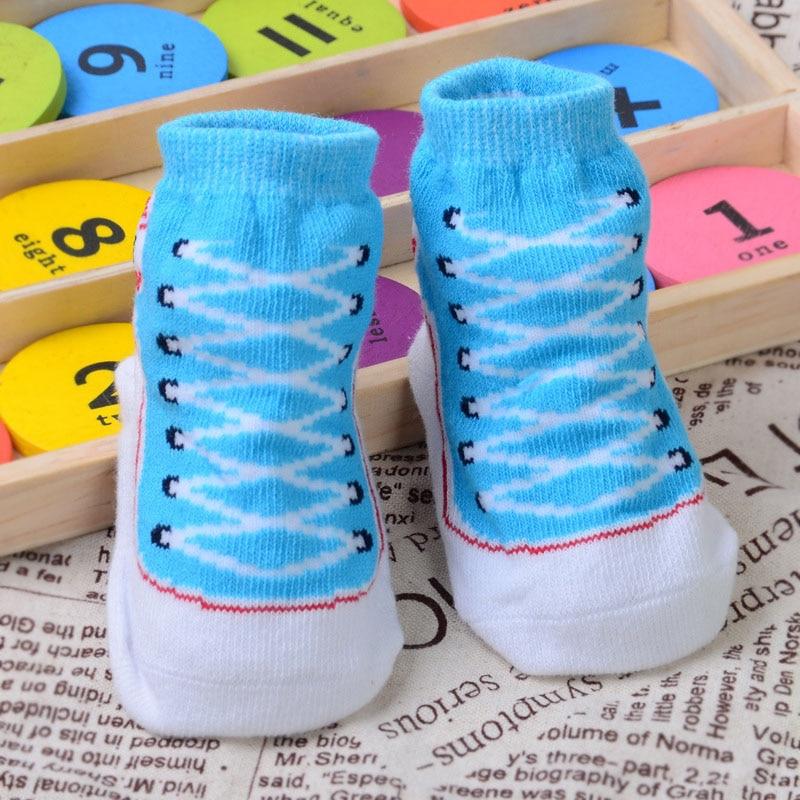 1 Paar Herbst Winter Infant Baumwolle Socken Weiche Nicht-slip Newborn 0-12 Monate Baby Jungen Mädchen Socke Yjs Dropship Fein Verarbeitet