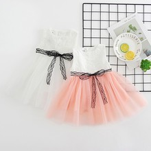 Fashion Europe And America Children's Wear Girls Dress Floral Party Princess Dress Girl Bow Tutu Embroidered Dress New Products цена в Москве и Питере