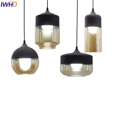 IWHD Glass LED Hanging Lamp Lights Modern Iron Pendanting Light Fixtures Creative Bedroom Kitchen Dining Hanglamp Luminaire iwhd glass bird hanglamp led pendant lights modern home lighting fixtures creative iron hanging lamp dining room luminaire