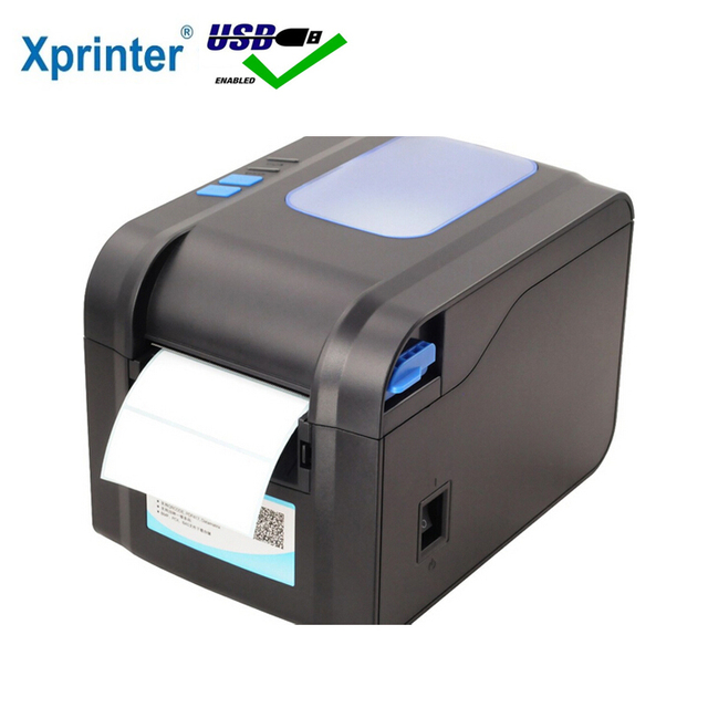 Xprinter Label Barcode Printer Thermal Receipt Printer Bar Code Printer 20mm-80mm With Auto Stipping XP-370B