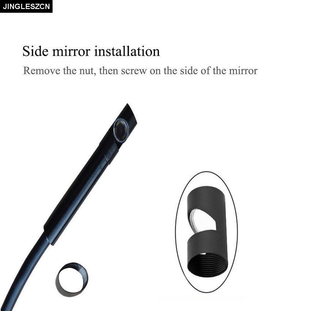 JINGLESZCN USB Endoscope 7mm Dia 5m Hard Cable Mini Camera CMOS Waterproof 6 LED Borescope Inspection Endoscopio Cam Snake Video