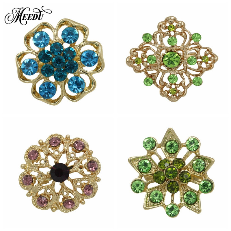 MEEDU Handmade Brooches Pin Colorful Crystal Flower Brooch Bouquet  Accessories For Women Wedding Dress Sweater Decorative Pin-in Brooches from  Jewelry ... a23197bdba28