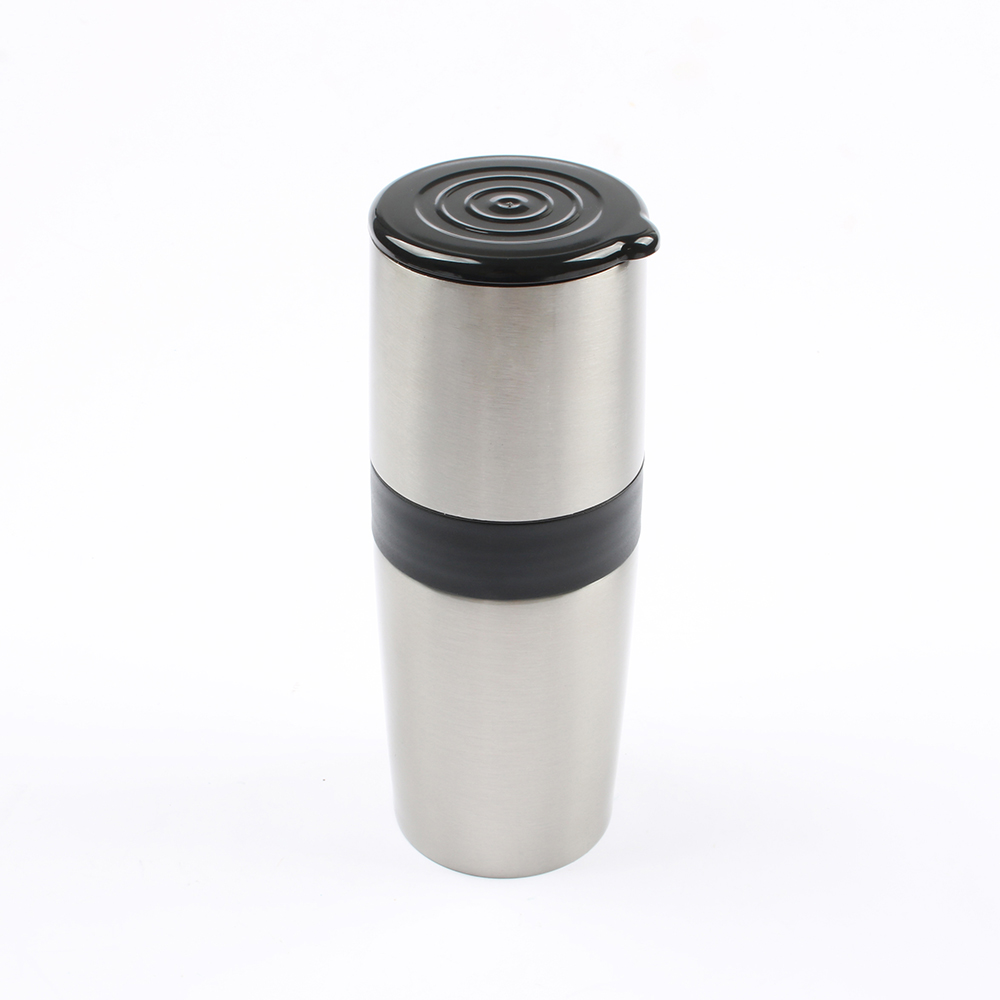DMWD Multifunctional Portable Coffee Maker Manual Coffee Grinder Stainless Steel Vacuum Cup For Travel Adjustable Coarse Fine creative fashion portable stainless steel vacuum cup